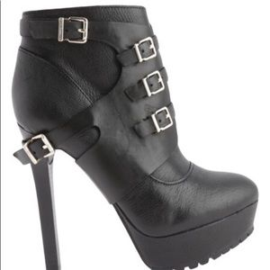BCBGeneration Combat Leather Ankle Boots